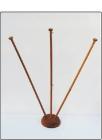 Βάση κονταράκι - Τριπλό ξύλινο