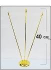 Βάση χρυσή - Τριπλό κονταράκι